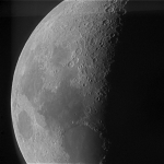 First Quarter Moon - 7/14/13 -- Image captured by Mike Ford with the RC-20 telescope -- Image processed by Gary Hug with